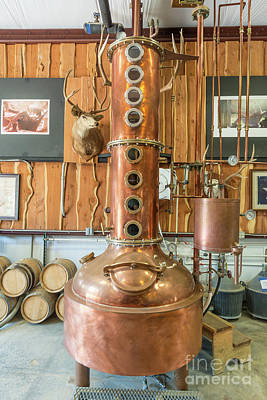 Liquor Photograph - Copper Whisky Still by Tod and Cynthia Grubbs
