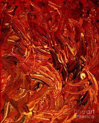 Gloss Varnish Painting - Copperfields Abstract by Shelly Wiseberg