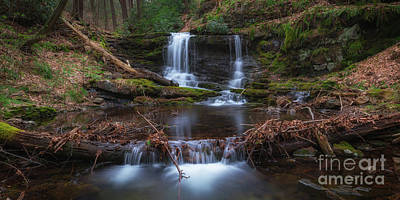 Photograph - Coppermine Trail Falls Pano by Michael Ver Sprill