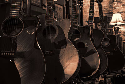 Photograph - Coppertone Guitars by Lynn Palmer