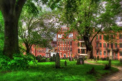 Photograph - Copp's Hill Cemetery - North End - Boston by Joann Vitali