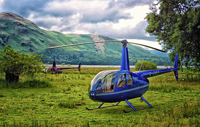 Copter Print by Martin Newman
