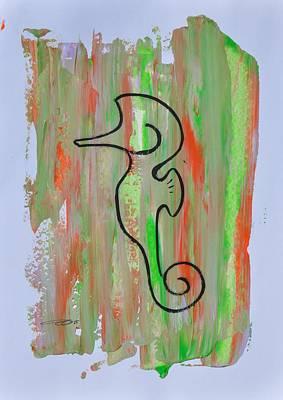 Painting - Copycat Seahorse 01/30 by Eduard Meinema