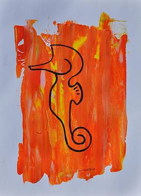 Painting - Copycat Seahorse 04/30 by Eduard Meinema