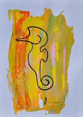 Painting - Copycat Seahorse Id 03/30 by Eduard Meinema