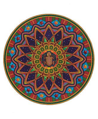 Taino Drawing - Coqui Mandala by Daniel Ramirez