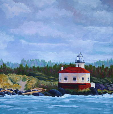 Art Print featuring the painting Coquille Light by Nancy Jolley