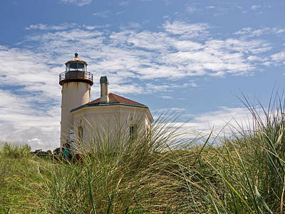 Photograph - Coquille Lighthouse H by Inge Riis McDonald