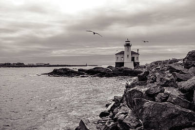 Coquille Lighthouse Oregon  Art Print
