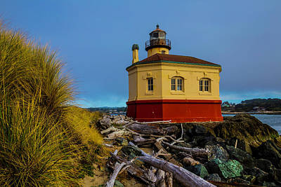 Coquille River Lighthouse Photograph - Coquille River 2 Lighthouse by Garry Gay
