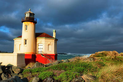 Photograph - Coquille River Light by Dee Browning