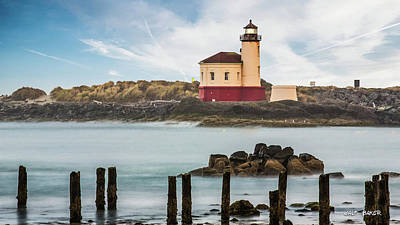 Photograph - Coquille River Light by Walt Baker