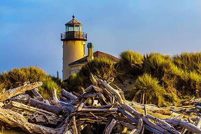 Coquille River Lighthouse Photograph - Coquille River Lighthouse by Garry Gay