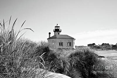 Photograph - Coquille River Lighthouse - Pov 3 Bw by Scott Pellegrin