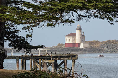 Photograph - Coquille River Lighthouse by Wes and Dotty Weber