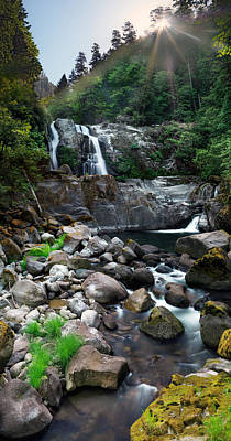 Photograph - Coquille Waterfalls by Leland D Howard