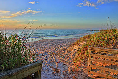 Coquina Beach By H H Photography Of Florida  Art Print