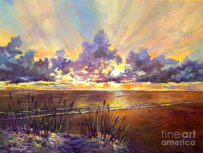 Painting - Coquina Beach Sunset by Lou Ann Bagnall