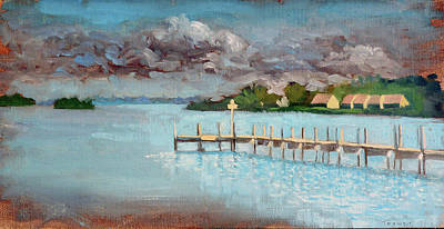 Painting - Coquine Bay Docking by Catherine Twomey