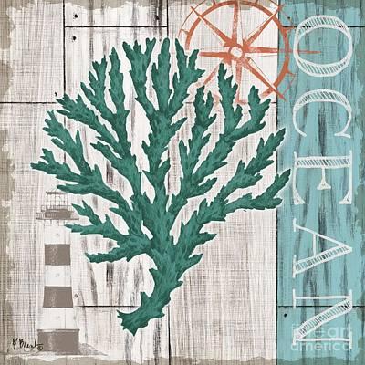 Coral Azul Iv Art Print by Paul Brent
