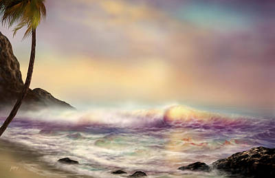 Wyland Painting - Coral Beach by Nathan Lewis
