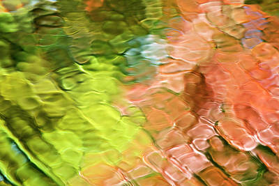 Photograph - Coral Confetti Mosaic Abstract by Christina Rollo