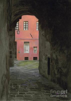 Coral Corridor Siena Italy Art Print