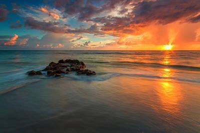 Long Exposure Photograph - Coral Cove Park Sunrise by Stefan Mazzola