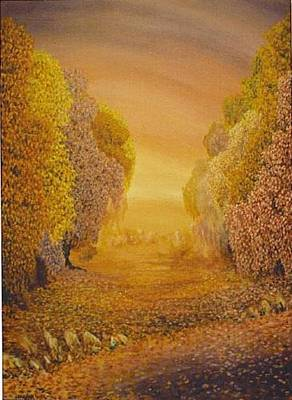 Respite Painting - Coral Dawn by Jacki Randall
