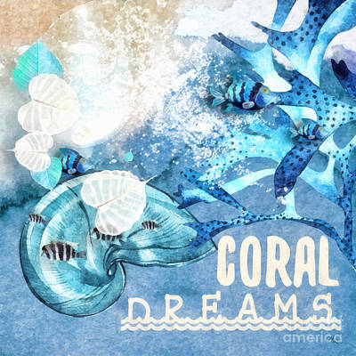 Painting - Coral Dreams by Mo T