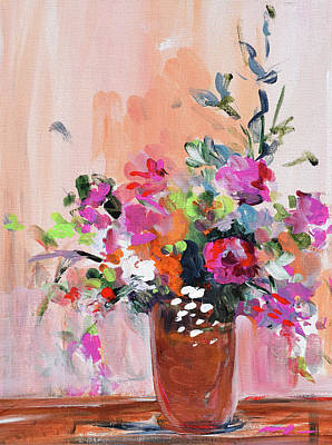 Painting - Coral Floral by Karen Ahuja