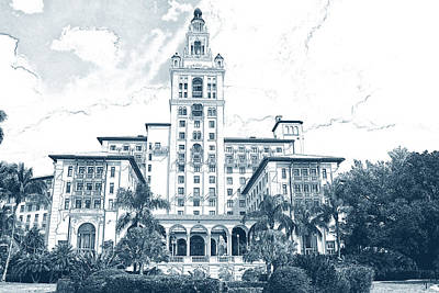 Digital Art - Coral Gables Biltmore Hotel 0023  by Carlos Diaz