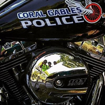 Coral Gables Police Bike Art Print