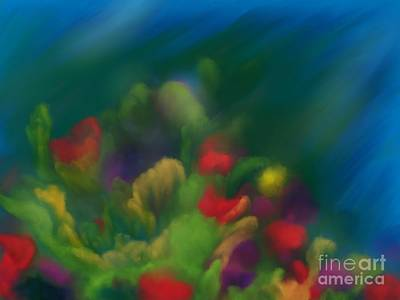 Painting - Coral Impressions by Roxy Riou