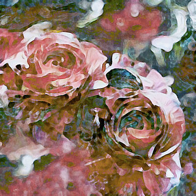 Painting - Coral Pink Roses by Susan Maxwell Schmidt