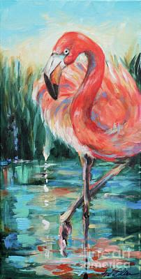 Painting - Coral Plumes by Linda Olsen