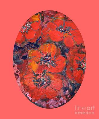 Painting - Coral Poppies by Melanie Stanton