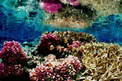 Coral Reef Art Print by Carol Crisafi