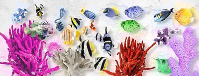 Animal Watercolors Juan Bosco - Coral Reef No 01 by Mia Stedt
