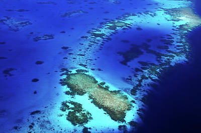 Photograph - Coral Reef Patterns 2. Aerial Journey Around Maldives by Jenny Rainbow