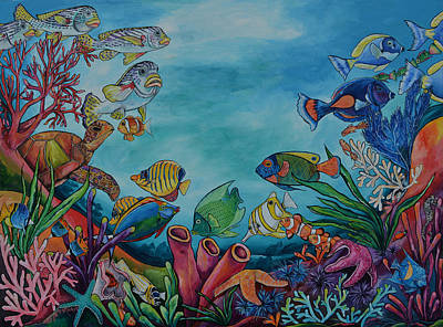 Coral Reef Art Print by Patti Schermerhorn