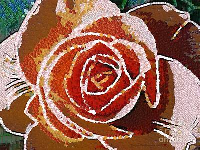Royalty Free Images Painting - Coral Rose In The Mix by Catherine Lott