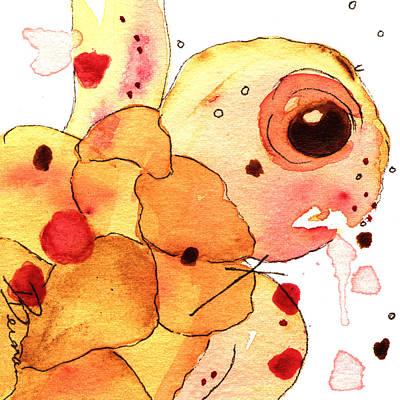 Ocean Turtle Painting - Coral Sea Turtle by Dawn Derman