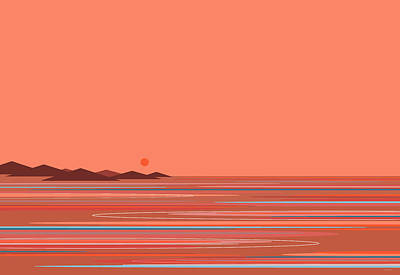 Digital Art - Coral Sea by Val Arie