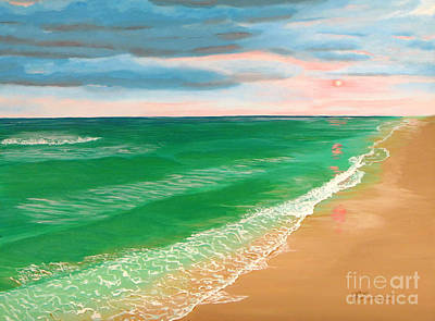 Painting - Coral Skies by Jennifer Lindquist