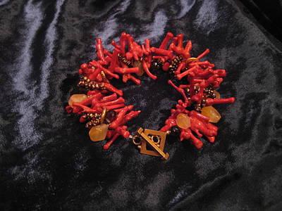 Smokey Quartz Jewelry - Coral Stick Bracelet by Jan Durand