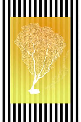 Animal Portraits - Coral Sunny Yellow by Ramona Murdock