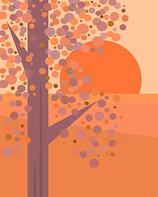 Digital Art - Coral Tree by Val Arie