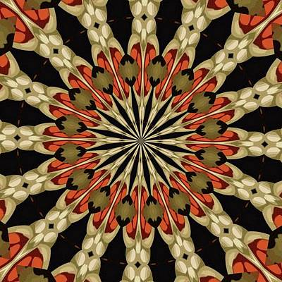 Digital Art - Coral With Caramel And Cream Mandala by Tracey Harrington-Simpson