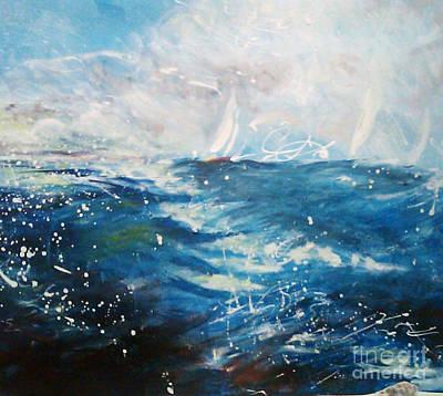 Steele Painting - Corazon De Fuego by Tina Steele Penn